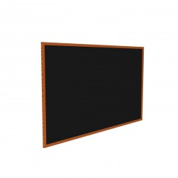 "WTRC23-BK 24"" x 36"" Wood Frame, Cherry Oak Finish Recycled Rubber Tackboard - Black by Ghent"