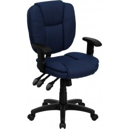 Mid-Back Multi-Functional Ergonomic Task Chair with Arms - 5 Seat options