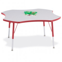 Jonti-Craft Berries® Four Leaf Activity Table - Select Height and Color