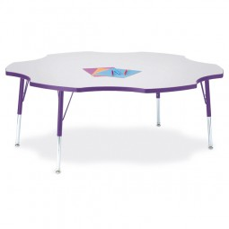 Jonti-Craft Berries® Six Leaf Activity Table - Select Size, Height and Color