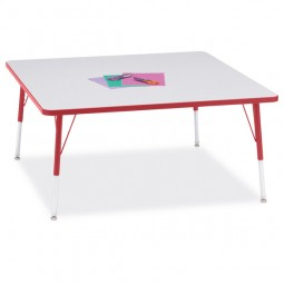"""Jonti-Craft Berries® 48"""" x 48"""" Square Activity Table - Select Height and Color"""