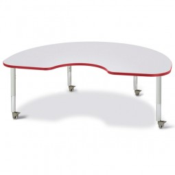 """Jonti-Craft Berries® Mobile 48"""" x 72"""" Kidney Activity Table - Select Color"""
