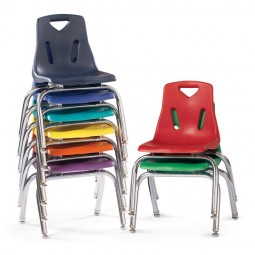 Jonti-Craft Berries® Stacking Chair with Chrome-Plated Legs - Select Size and Color