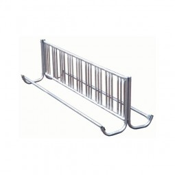 "192"" Galvanized Double-Sided J-Frame Bike Rack for 28 Bikes"