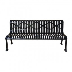 6' Armless Roll-Formed Diamond Bench