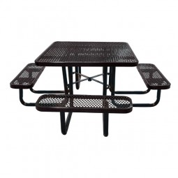 """46"""" Square Expanded Metal Portable Table"""