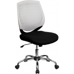 Mid-Back Designer Back Task Chair with Chrome Base - 9 Seat Options