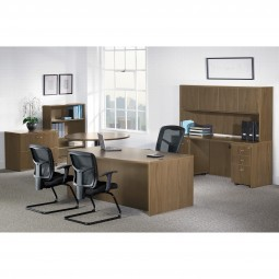 Essentials Office Suite Ensemble in Walnut - Choose Components