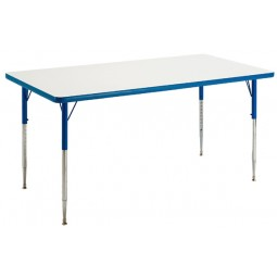 "30"" x 60"" Rectangular Colorful-Edge Dry-Erase Markerboard Activity Table - Allied M63060"