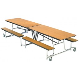 "AmTab MBT10 Mobile Bench Table 10'1"" x 30"""