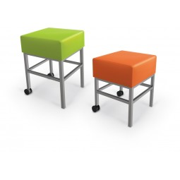 Modular Soft Seating Stools, shown in both counter-height and bar-height sizes.