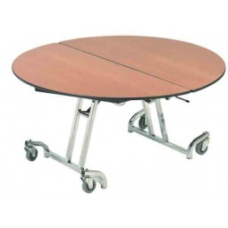 AmTab MRD60TL Mobile Round Table with T Legs 60""