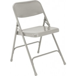 NPS Premium All Steel Folding Chair - Double Hinge - Gray - 202