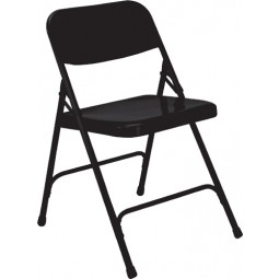 NPS Premium All Steel Folding Chair - Double Hinge - Black - 210