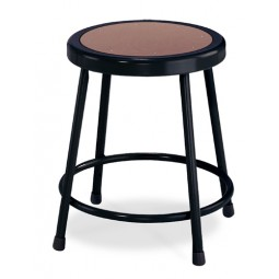 NPS 6200-10 Series Black Lab Stools with Round Hardboard Seat - Two Fixed & Two Adjustable Heights