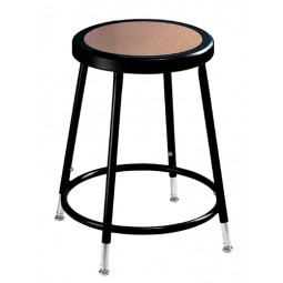 "NPS Black Lab Stool with Round Hardboard Seat - 19""-27"" Adjustable Height - 6218H-10"
