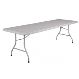 "NPS 30"" x 96"" Blow-Molded Rectangular Folding Table - BT-3096"