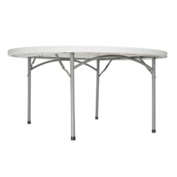 "NPS 60"" Round Blow-Molded Folding Table - BT-60R"