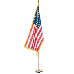 Annin 3' x 5' Indoor US and States Fringed Flags and Base