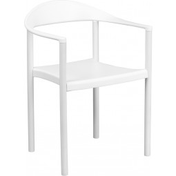 Signature Series 1000 lb. Capacity Plastic Cafe Stack Chair - 2 Seat Options