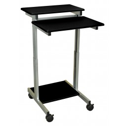 "Luxor STANDUP-24-B 24"" Adjustable Stand Up Desk - Black Top"