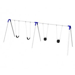 UPlayToday Single or Double Bay Bipod Swing Sets - Select Number of Strap or Tot Seats and Color