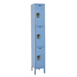 "Hallowell Premium Locker, 12""W x 12""D x 78""H, 707 Marine Blue, Triple Tier, 1-Wide"