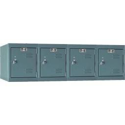 "Hallowell Premium Locker, 48""W x 18""D x 14.75""H, 725 Hallowell Gray, 4-Wide Wall Mount,"