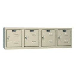 "Hallowell Premium Locker, 48""W x 18""D x 14.75""H, 729 Parchment, 4-Wide Wall Mount,"