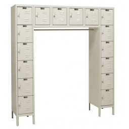 "Hallowell Premium Locker, 72""W x 18""D x 78""H, 729 Parchment, 16-Person,"