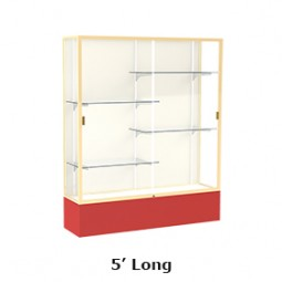 Waddell Spirit Series 375 Floor Display Case 5' Length - Multiple Options