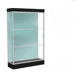 """Waddell Edge Series 92 4' Wide Lighted Floor Case with 6"""" base - Multiple Options"""