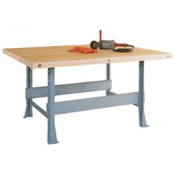4-Station Workbench, Steel Legs, With Vises or Without