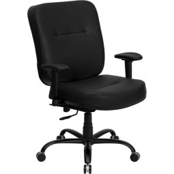 Signature Series 400 lb. Capacity Big and Tall Office Chair with Arms and Extra WIDE Seat - 2 Seat Options