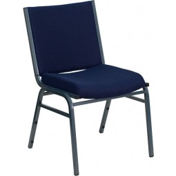 Signature Series Heavy Duty, 3'' Thickly Padded, Upholstered Stack Chair - 6 Seat Options