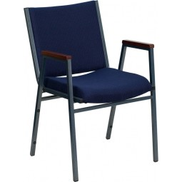 Signature Series Heavy Duty, 3'' Thickly Padded,  Stack Chair with Arms - 6 Seat Options