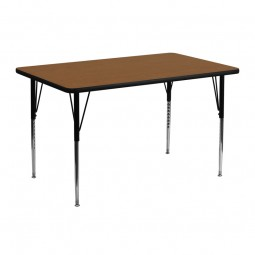 24''W x 48''L Rectangular Activity Table - 4 Colors Available