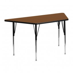 24''W x 48''L Trapezoid Activity Table - 4 Colors Available