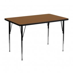 30''W x 48''L Rectangular Activity Table - 4 Colors Available
