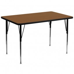 36''W x 72''L Rectangular Activity Table - 4 Colors Available