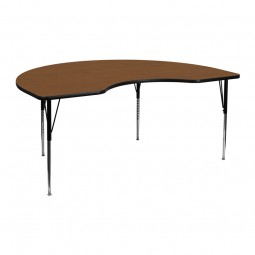 48''W x 72''L Kidney Shaped Activity Table - 4 Colors Available
