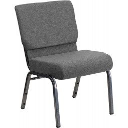Signature Series 21'' Extra Wide Stacking Church Chair with 3.75'' Thick Seat - Gray