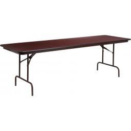 Rectangular Walnut Melamine Laminate Folding Banquet Table - 3 Sizes Available