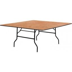 Square Wood Folding Banquet Tables - 3 Sizes Available