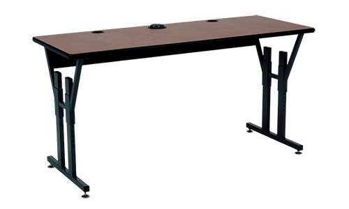 CY Series Computer Table with T-Mold Edge Wire Management Tray and ...