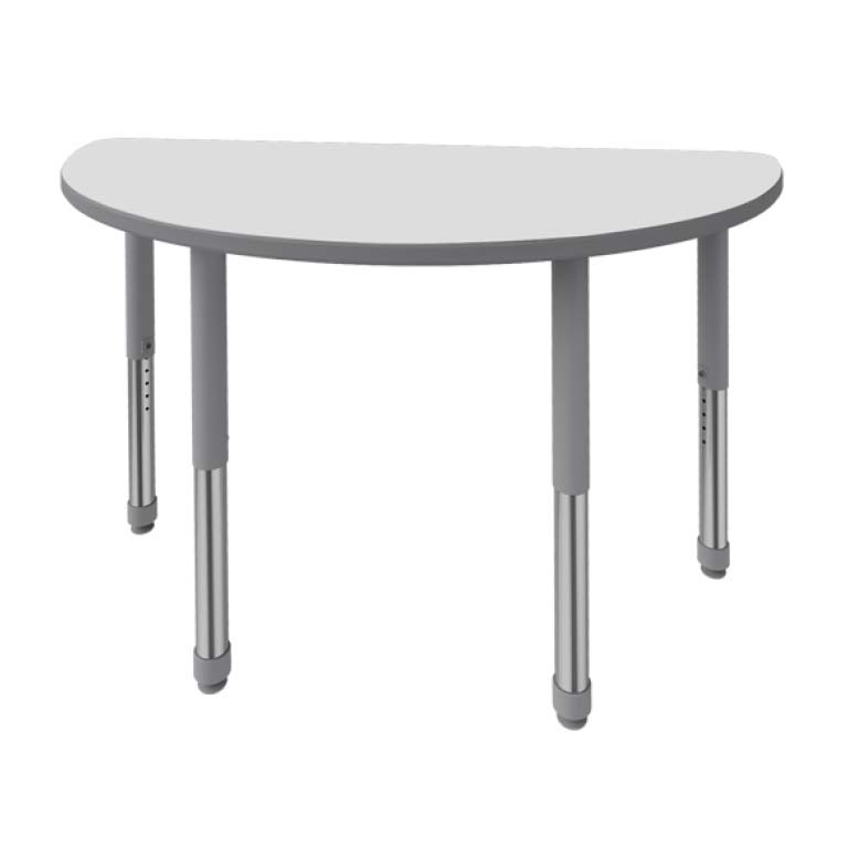 Artcobell Half Round Discover Shape Table With Markerboard White Laminate