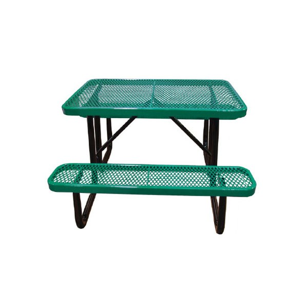 4 standard expanded metal portable picnic table - Metal Picnic Tables