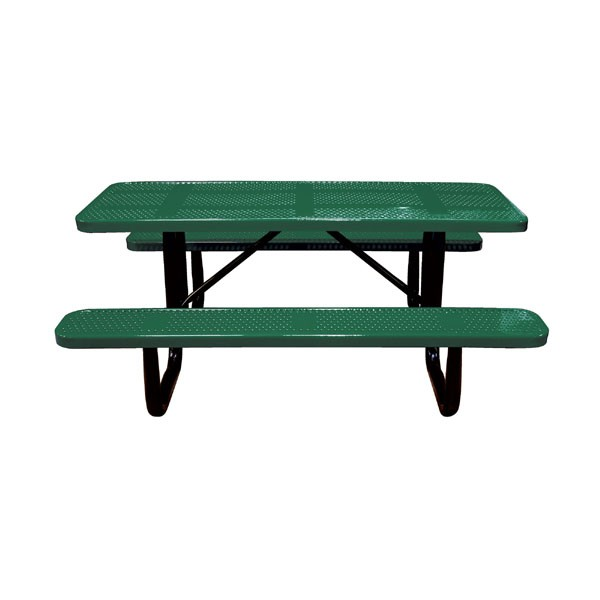 6 standard perforated metal portable picnic table - Metal Picnic Tables