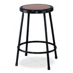 "NPS Black Lab Stool with Round Hardboard Seat - 24"" Fixed Height - 6224-10"