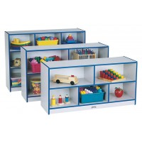 Jonti-Craft Rainbow Accents Single Mobile Storage Unit - Three Sizes with Four Edge Colors